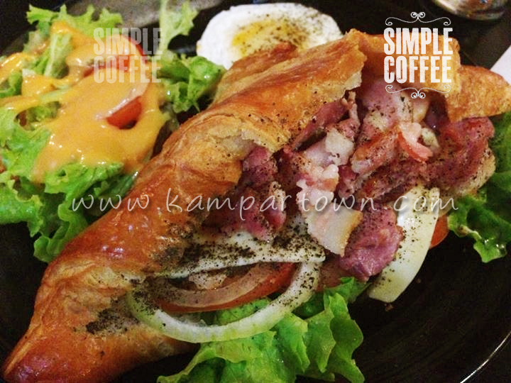 Croissant Sandwich Simple Coffee Cafe Kampar